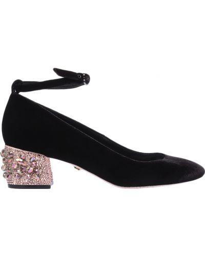 Кожаные туфли осенние велюровые Le Silla