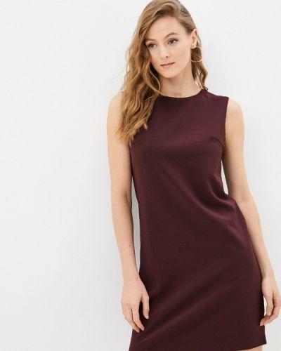 Прямое платье - бордовое Shovsvaro