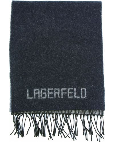 Шарф итальянский синий Lagerfeld