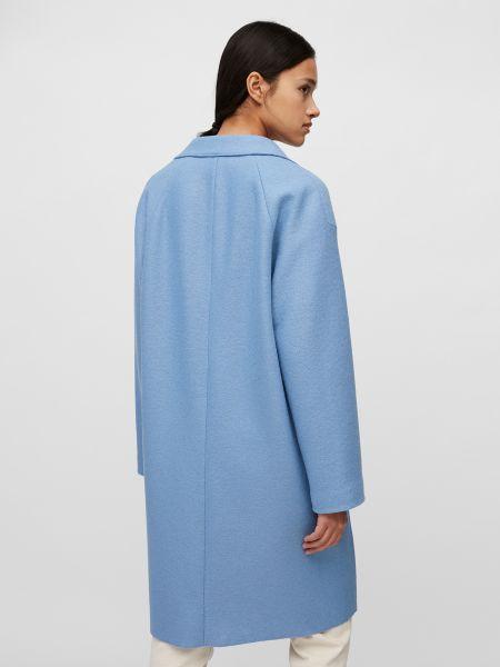 Синее шерстяное пальто с воротником Marc O'polo