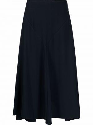 Синяя юбка расклешенная Stefano Mortari