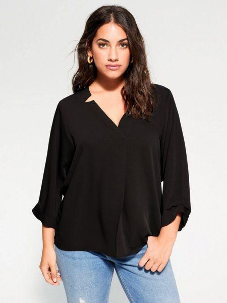 Блузка черная весенний Violeta By Mango