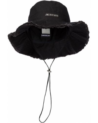 Czarny kapelusz bawełniany Jacquemus