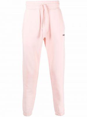 Różowe spodnie bawełniane Hydrogen