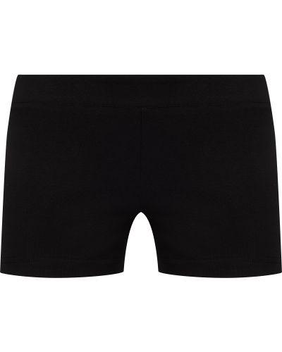 Зауженные хлопковые черные спортивные шорты для фитнеса Gsd