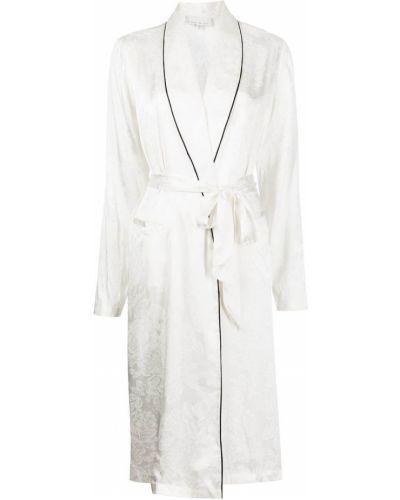 Белый шелковый халат для полных Fleur Du Mal