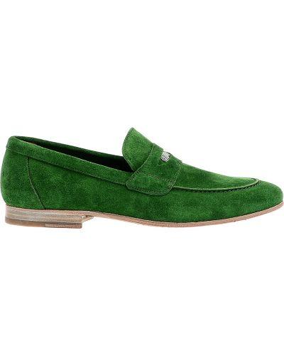 Зеленые лоферы замшевые Kenzo