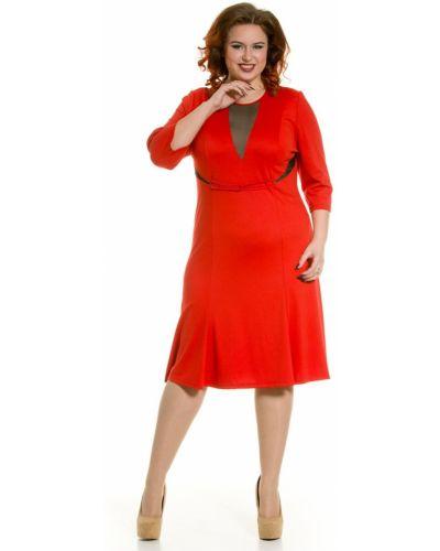 Повседневное трикотажное платье годе с сеткой Luxury