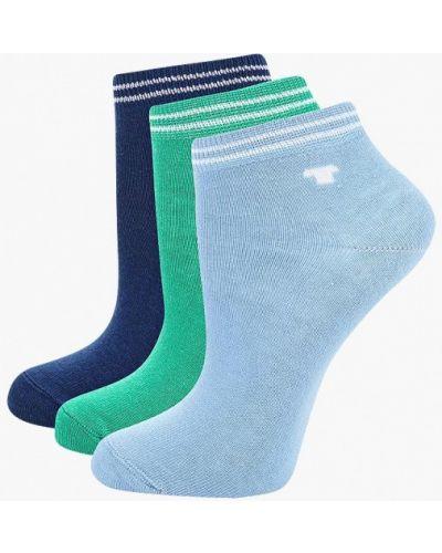 Носки синие зеленый Tom Tailor