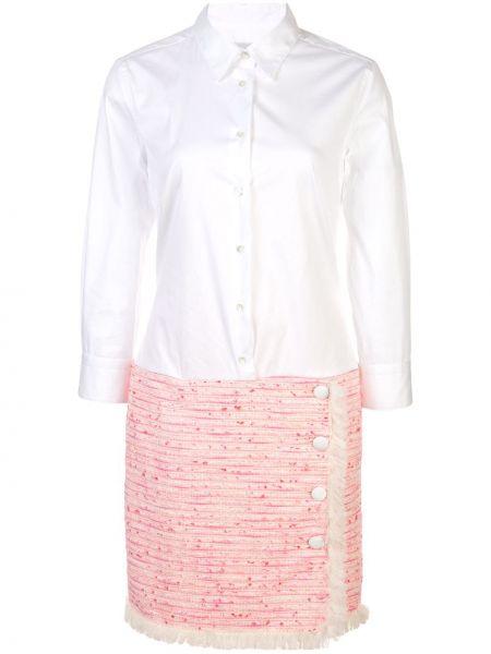 Платье розовое на пуговицах Sara Roka