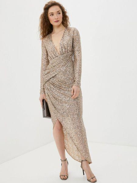 Вечернее платье весеннее золотой Goddiva