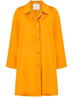 Желтая куртка с воротником свободного кроя Chanel Pre-owned