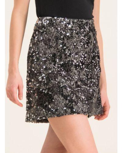 Czarna spódnica mini z cekinami Michael Michael Kors