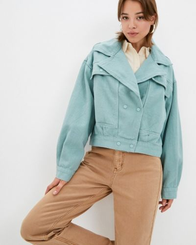Джинсовая куртка - бирюзовая Grafinia