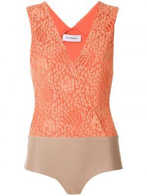 Боди без рукавов - оранжевое Olympiah