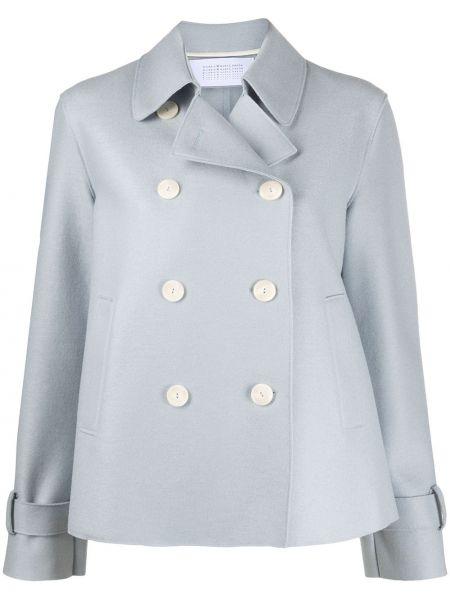Коралловое шерстяное длинное пальто свободного кроя с карманами Harris Wharf London