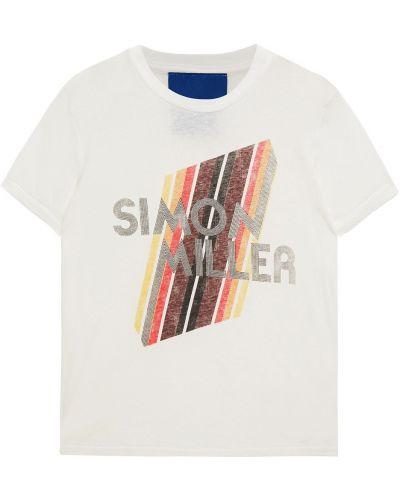 Biała koszulka bawełniana Simon Miller