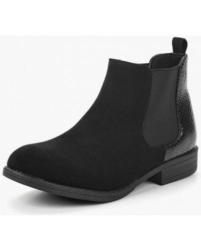 Ботинки челси осенние черные Topway