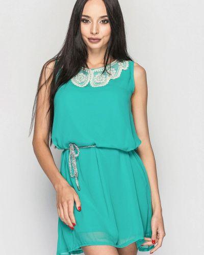 Платье мини весеннее бирюзовый 0101 Brand