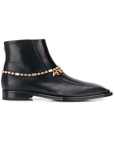 Ботильоны черный на молнии Versace