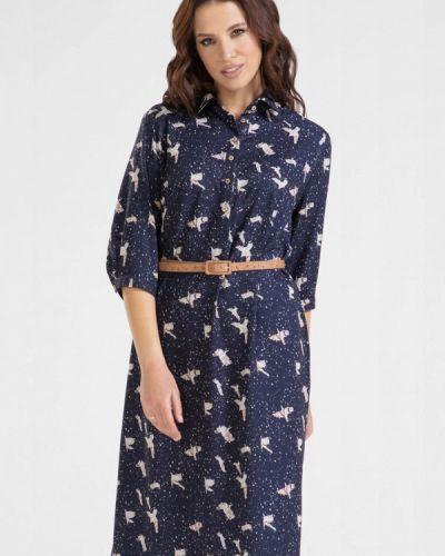 Синее платье-рубашка Prima Linea