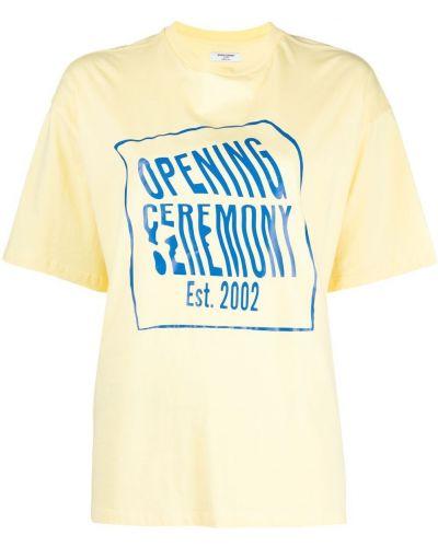 Ватная хлопковая синяя рубашка Opening Ceremony