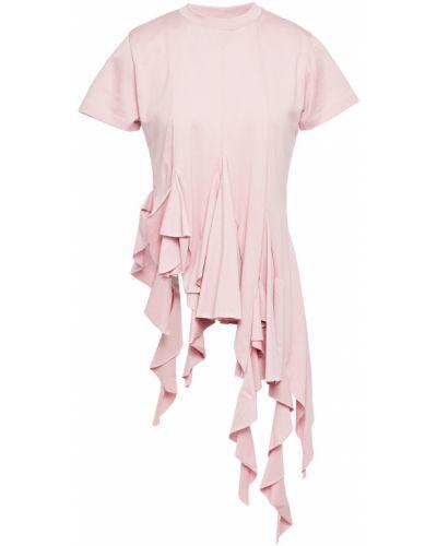 T-shirt bawełniana - różowa Marques Almeida