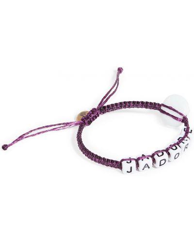 Фиолетовый браслет с бисером Maison Irem