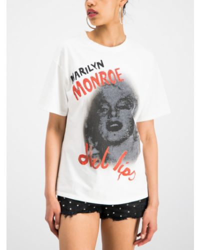T-shirt z printem - biała The Kooples