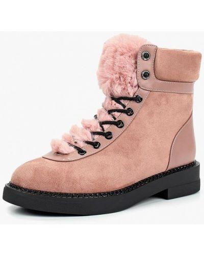 Ботинки из искусственного меха - розовые Teetspace