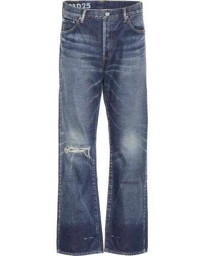 Ватные хлопковые синие джинсы Visvim