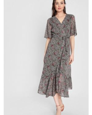 Шифоновое платье мини с запахом с V-образным вырезом на молнии Ostin