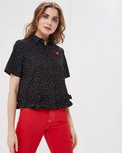 a0d5172eee7 Черные женские рубашки с коротким рукавом - купить в интернет ...