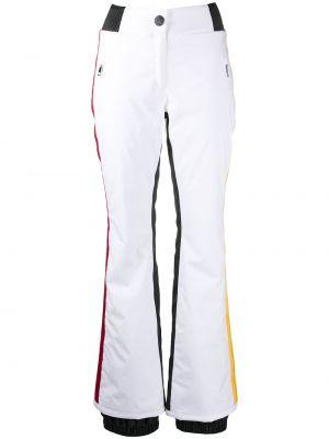 Приталенные белые брюки с полоской по бокам с карманами Rossignol