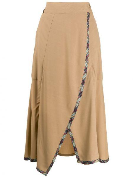 Асимметричная юбка макси с поясом Teija