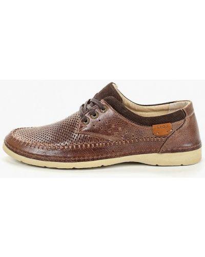 Кожаные ботинки демисезонный коричневый Kruzo