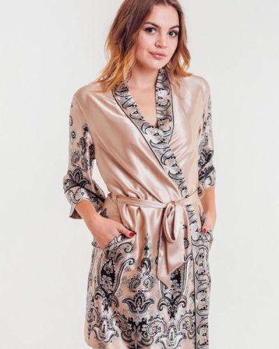 Домашний халат - бежевый Mia-amore