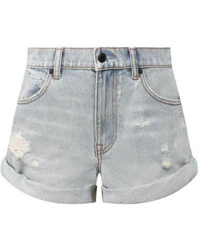 Джинсовые шорты с отворотами короткие Denim X Alexander Wang