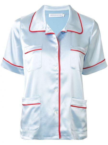 Spodni piżama krótkie rękawy z klapą Goodious