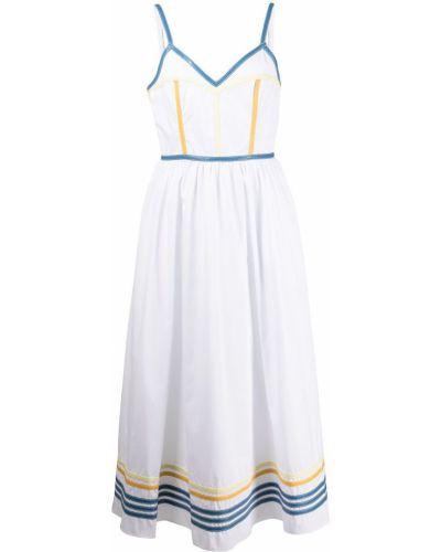 Платье с V-образным вырезом - белое Rosie Assoulin