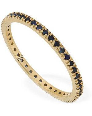 Niebieski złoty pierścionek szafir Vanzi