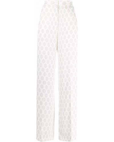 Spodnie z wiskozy - białe Mm6 Maison Margiela
