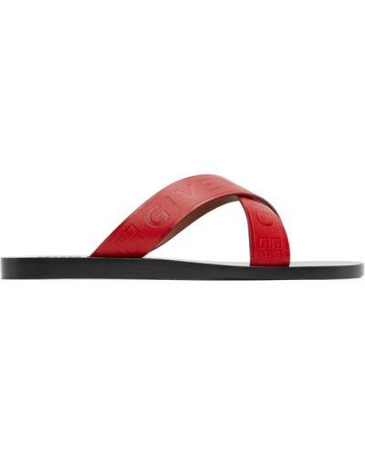 Z paskiem czarny sandały z prawdziwej skóry na paskach Givenchy
