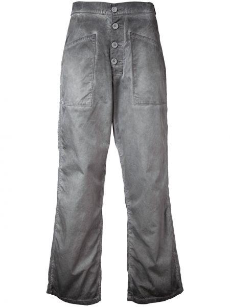 Укороченные джинсы расклешенные серые Rta