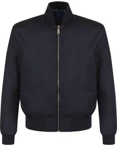 Куртка двусторонняя с воротником-стойкой из полиэстера Versace