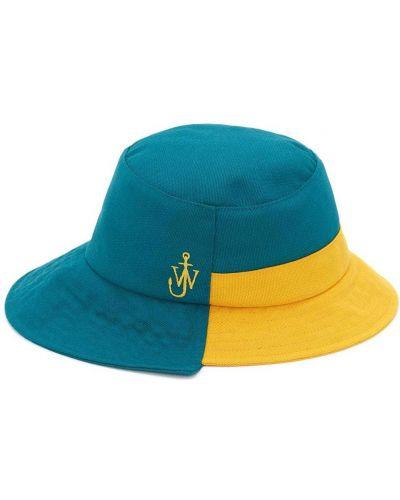 Niebieski kapelusz materiałowy asymetryczny Jw Anderson