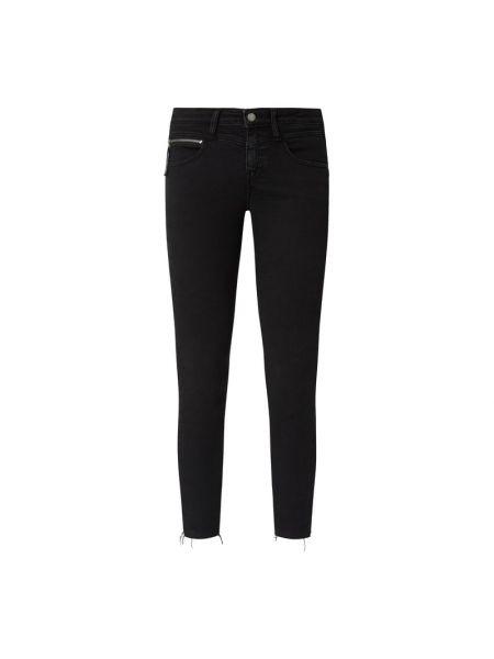 Bawełna czarny obcisłe dżinsy z kieszeniami chudy Calvin Klein Jeans