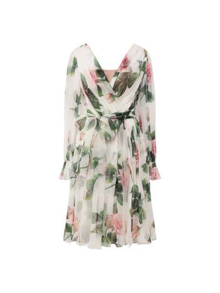 Платье миди шифоновое шелковое Dolce & Gabbana