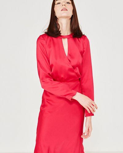 Платье миди с запахом с поясом Simple