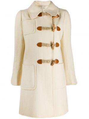 Шерстяное пальто с воротником узкого кроя на пуговицах Emanuel Ungaro Pre-owned